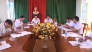 Đồng chí Bí thư Huyện ủy làm việc với Ban Thường vụ Đảng ủy xã Tân Lợi